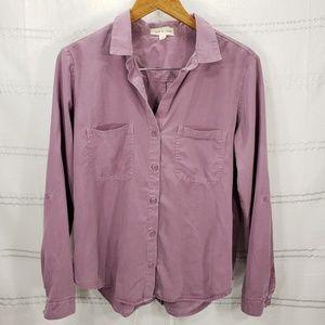 Cloth & Stone Mauve Lyocell Button Up